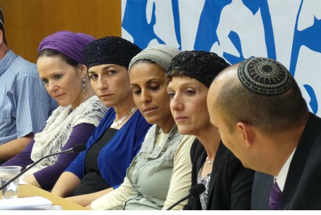 Mothers of the kidnapped boys, with Naftali B