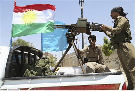 Kurdish Peshmerga forces in Iraq (file)