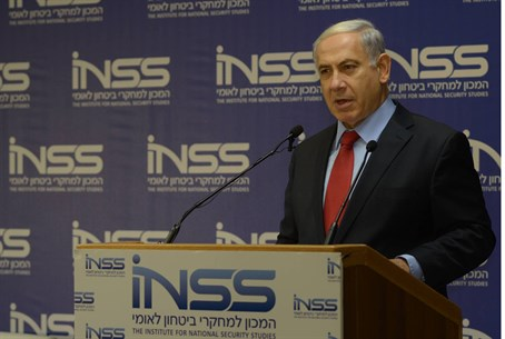 Netanyahu at INSS think tank