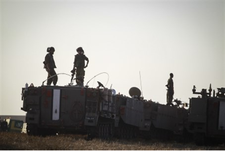APCs outside Gaza