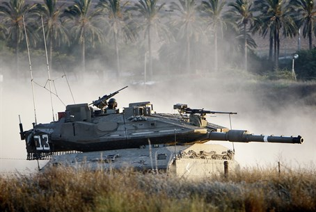 Merkava Mark IV tank near Gaza