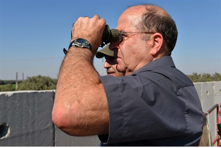 Moshe Ya'alon in the south near Gaza