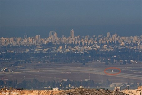 A view of Ben Gurion Airport froom Samari