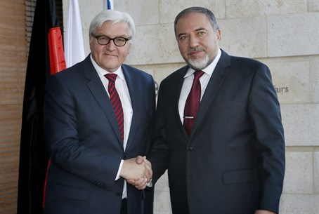 Avigdor Liberman and German counterpart Frank