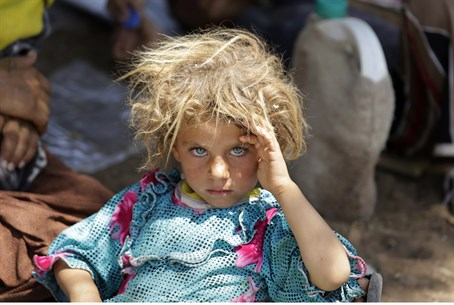 Yazidi girl in Iraq (file)