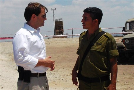 Di Iorio tours Iron Dome battery near Sderot