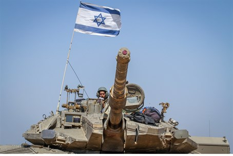 IDF forces on the border with Gaza