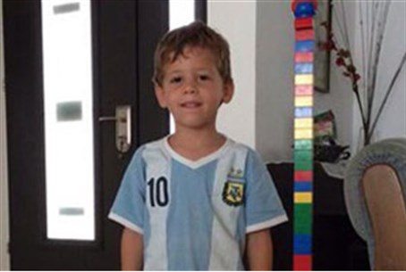 Four-year-old mortar shell victim Daniel Turg