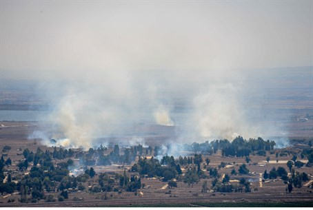 Smoke from fighting in Quneitra