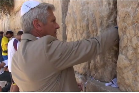 Bruce Blakeman at the Kotel