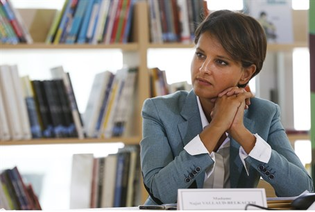 French Education Minister Najat Vallaud-Belka