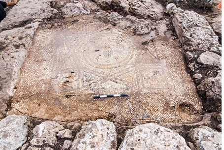 One of several mosaics unearthed