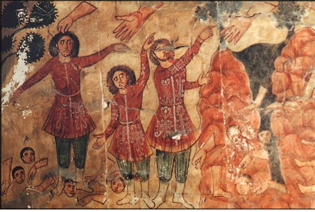 "Wall fresco from ancient ""Dura Europos"" synagogue in Syria (file)"