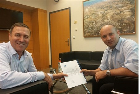 Economics Minister Naftali Bennett with the I