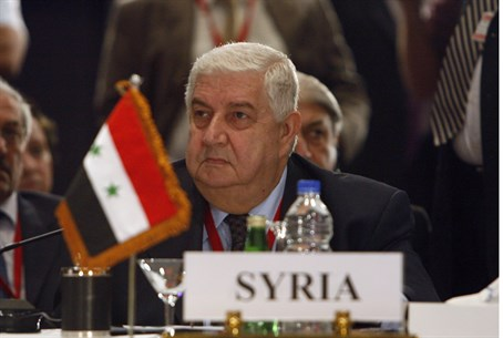 Syria's Foreign Minister Walid Muallem
