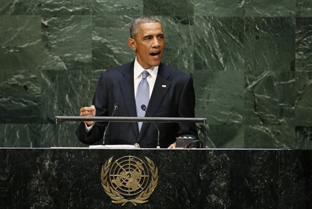 U.S. President Barack Obama addresses the 69t