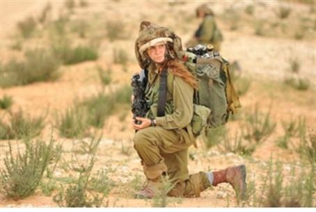 Female combat soldier