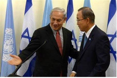 Netanyahu and UN Chief Ban Ki-moon