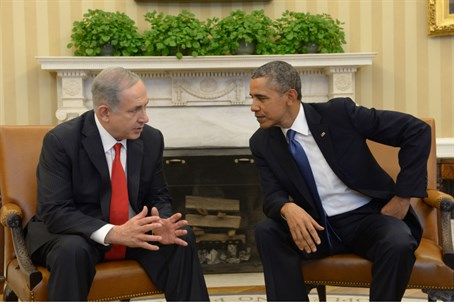Netanyahu, Obama in the Oval Office (file)