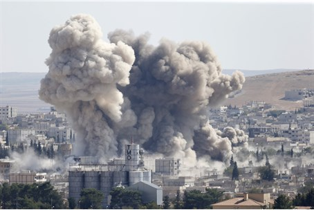 Strikes in Kobane (file)