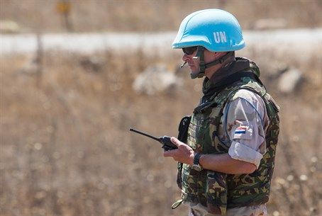 UN soldier in Golan Heights (file)
