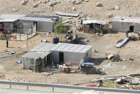 Illegal Palestinian building in Area C