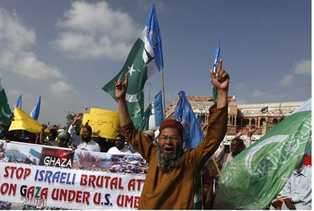 Jamaat-e-Islami activists in Pakistan (file)