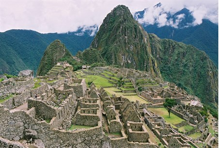 Incan city of Machu Picchu, Peru
