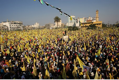 Fatah rally in Gaza (file)