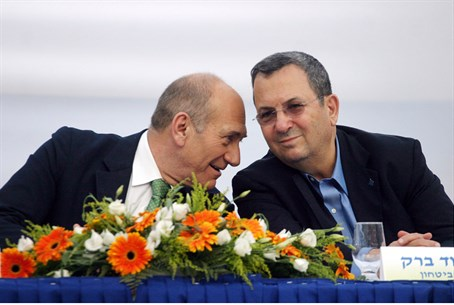 Olmert and Barak