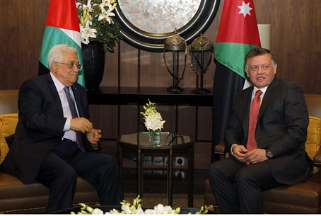 Battling for legitimacy? Abdullah with Abbas