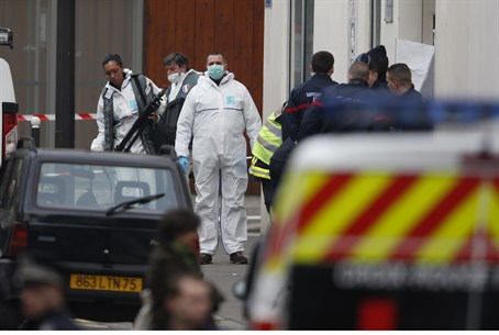 Aftermath of terror attack on Paris offices of Charlie Hebdo
