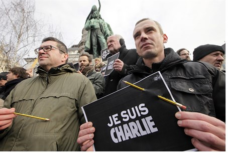 """I am Charlie"" - demonstration for Charlie Hebdo"