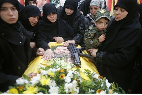 Hezbollah terrorists killed in the same airstrike were buried Tuesday