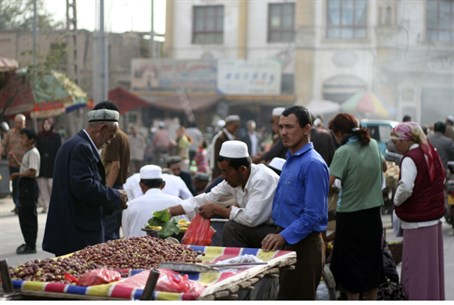 Chinese Uyghur Muslims in Xinjiang
