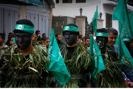 Hamas terrorists in Gaza parade