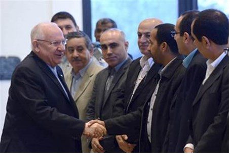 Reuven Rivlin with Arab leaders