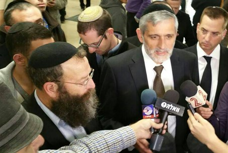 Baruch Marzel and Eli Yishai after decision