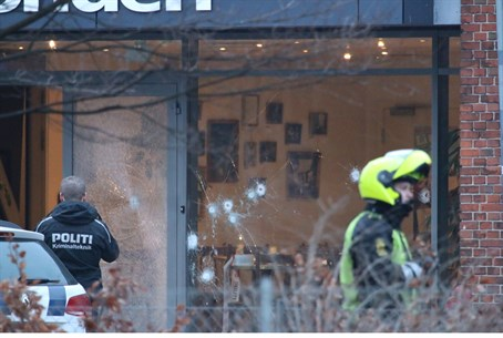 Site of Copenhagen cafe shooting, 14 Feb 2015