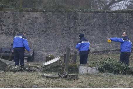French police inspect hundreds of vandalized graves at Sarre-Union Jewish cemetery