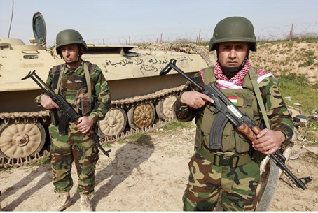 Kurdish peshmerga fighters in Iraq