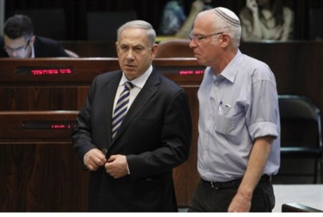 Ariel and Netanyahu (file)