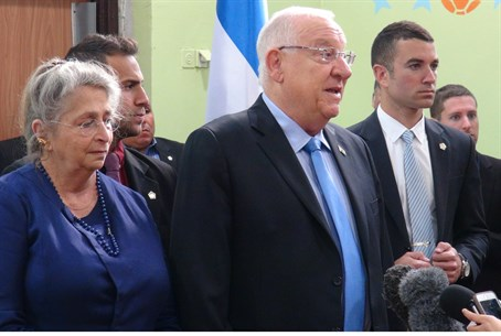 Reuven Rivlin speaks to the press
