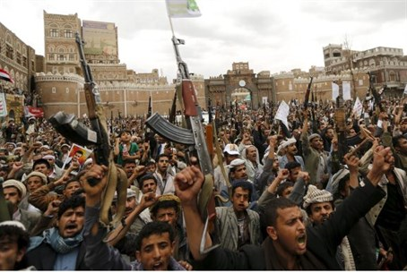 Houthi forces in Yemen (file)
