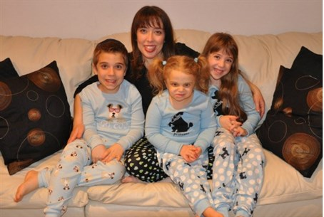 Wendy Berezovsky and her kids