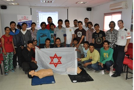 Nepalese students receive MDA training