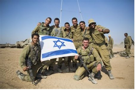 IDF soldiers during Gaza fighting (file).