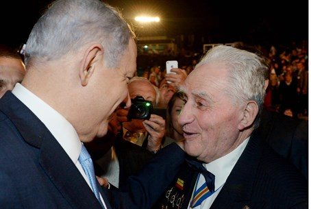 Binyamin Netanyahu with WW2 veteran