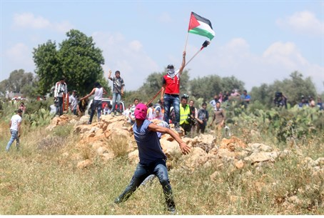 """Nakba Day"" rioters near Ramallah"