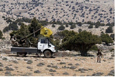 Hezbollah fighters in Syria's Qalamoun